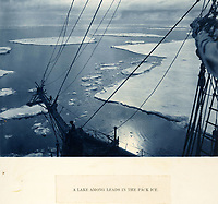 BNPS.co.uk (01202 558833)<br /> Pic: Bonhams/BNPS<br /> <br /> The Endurance encountering the floating ice field in which it later became entombed..<br /> <br /> Photographic record of one of the worlds most epic tales of endurance...<br /> <br /> Remarkable photos documenting Sir Ernest Shackleton's ill-fated attempt to cross Antarctica over 100 years ago have emerged for sale for £40,000.<br /> <br /> The 1914-17 expedition is remembered for one of the greatest feats of human bravery and endurance after the party became stranded for 18 months in freezing conditions. <br /> <br /> The expedition's official photographer, Frank Hurley, captured their ordeal on camera and made presentation albums when he eventually returned to Britain.<br /> <br /> One album was given to King George V. Seven are believed to survive today, including the one for sale that has been owned by a private collector for over 40 years.