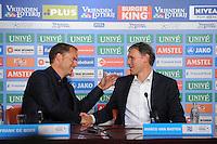 VOETBAL: HEERENVEEN: Abe Lenstra Stadion, 02-09-2012, Eredivisie 2012-2013, SC Heerenveen - Ajax, Eindstand 2-2,  Frank de Boer - Marco van Basten ©foto Martin de Jong