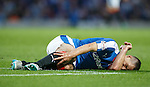 Lee Wallace falls back to earth and feels pain