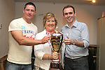 Paul Rice with Jane O'Brien and Wayne Wright at the Alan O'Brien Memorial Trophy Golf Outing....Photo NEWSFILE/Jenny Matthews.(Photo credit should read Jenny Matthews/NEWSFILE)....This Picture has been sent you under the condtions enclosed by:.Newsfile Ltd..The Studio,.Millmount Abbey,.Drogheda,.Co Meath..Ireland..Tel: +353(0)41-9871240.Fax: +353(0)41-9871260.GSM: +353(0)86-2500958.email: pictures@newsfile.ie.www.newsfile.ie.FTP: 193.120.102.198.