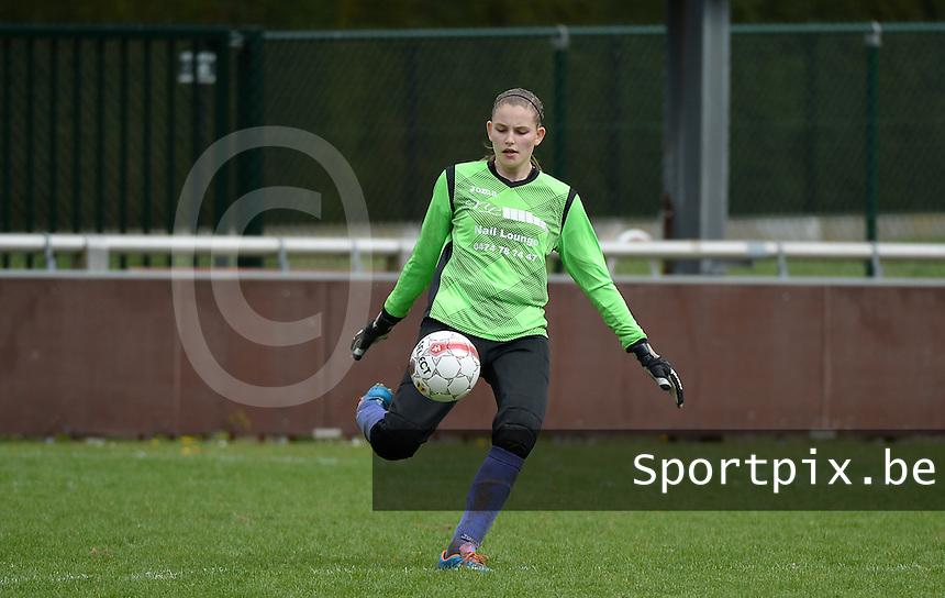 Finale Beker van West-Vlaanderen Vrouwen FC Knokke - SK Opex Girls Oostende : Tiffany Buysens<br /> foto DAVID CATRY | Sportpix.be