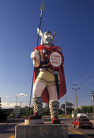 "AJ2885, viking, Minnesota, """"Alex"""" the Viking statue stands tall in the town of Alexandria in the state of Minnesota."