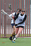 Santa Barbara, CA 02/19/11 - Kate Schissler (UC Santa Cruz #17) and Ciara Looney (CSU Fullerton #16) in action during the CSU Fullerton-UC Santa Cruz game at the 2011 Santa Barbara Shootout.