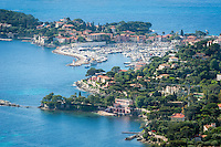 France, Provence-Alpes-Côte d'Azur, peninsula Cap Ferrat between Villefranche-sur-Mer and Beaulieu-sur-Mer with resort Saint-Jean-Cap-Ferrat | Frankreich, Provence-Alpes-Côte d'Azur, Halbinsel Cap Ferrat zwischen Villefranche-sur-Mer und Beaulieu-sur-Mer mit Badeort Saint-Jean-Cap-Ferrat