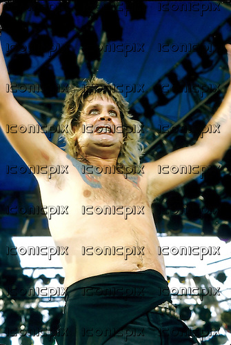 Ozzy Osbourne -  performing live at the Monsters of Rock Festival, Castle Donington, England - 18 Aug 1984.  Photo credit: George Chin/IconicPix