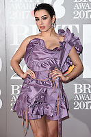 Charlie XCX<br /> arrives for the BRIT Awards 2017 held at the O2 Arena, Greenwich, London.<br /> <br /> <br /> &copy;Ash Knotek  D3233  22/02/2017