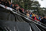 Maidstone United 1 Sutton United 0, 17/03/2018. The Gallagher Stadium, National League. Sutton United support. Attendance: 2,065. Photo by Simon Gill.
