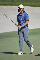 Tommy Fleetwood (ENG) after sinking his putt on 18 during round 1 of the Arnold Palmer Invitational at Bay Hill Golf Club, Bay Hill, Florida. 3/7/2019.<br /> Picture: Golffile | Ken Murray<br /> <br /> <br /> All photo usage must carry mandatory copyright credit (© Golffile | Ken Murray)