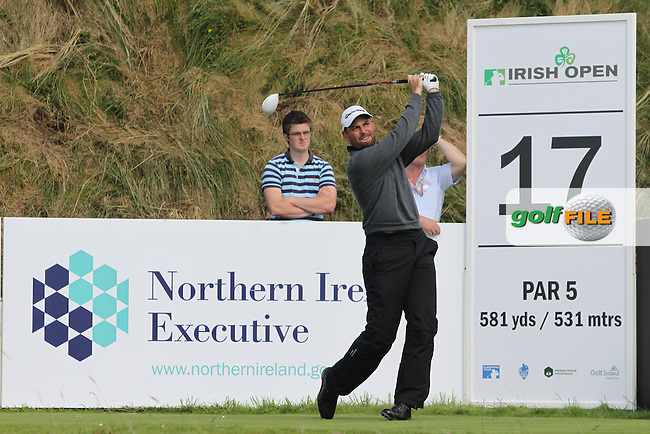 David Howell (ENG) on the 17th on Day 1 of the 2012 Irish Open at Royal Portrush Golf Club, Portrush, Co.Antrim, 28/6/12...(Photo Jenny Matthews/www.golffile.ie)