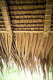 INDONESIA, Mentawai Islands, Kandui Surf Resort, detail of thatched roof