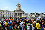 Palais Royale venue for sign on before Stage 1 of the 2019 Tour de France, running 194.5km from Brussels to Brussels, Belgium. 6th July 2019.<br /> Picture: ASO/Pauline Ballet | Cyclefile<br /> All photos usage must carry mandatory copyright credit (© Cyclefile | ASO/Pauline Ballet)