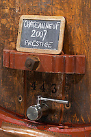 tank door sign on tank prestige 2007 domaine roger sabon chateauneuf du pape rhone france