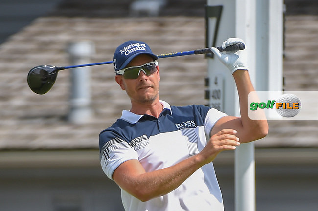 Henrik Stenson (SWE) watches his tee shot on 17 during 2nd round of the World Golf Championships - Bridgestone Invitational, at the Firestone Country Club, Akron, Ohio. 8/3/2018.<br /> Picture: Golffile   Ken Murray<br /> <br /> <br /> All photo usage must carry mandatory copyright credit (© Golffile   Ken Murray)