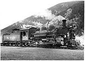 D&amp;RGW #478 K-28 in Silverton.<br /> D&amp;RGW  Silverton, CO  Taken by Payne, Andy M. - 8/20/1954