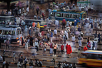 Downtown Khartoum.War refugees board buses to go home to the largest refugee ring in the worldÑ4.5 million people.  All the resources are in KhartoumÑthe big sucking sound in the middle of AfricaÕs largest country.  KhartoumÕs corrupt government takes resources from the war zones of the south, but also from the northern Islamic part of the country.  During droughts, Khartoum lets itÕs people in rural areas die of dehydration.  ..Story Summary:.Sudan, the largest country in Africa, hosts a civil war between the Islamic North and the African South that has the highest casualty rate of any war since World War II...Two and a half million people have been killed in this insidious conflict.  It drags on because Southerners have no voice, and the Northerners have engineered ÒThe Perfect WarÓ where none of their people are killed...The North forces people out of the South by bombing them, burning their crops, and harassing them with gun ships. They abduct their children and draft them to fight with the Northern armyÑforcing southerners to fight their own brothers...This story is particularly interesting now because there is a small window for peace in a civil war that has been dragging on since the end of colonial rule.  The war has always been about tribal issues and ideologyÉ but more than that, it is about resources.  This clash over resources may bring peace.  The North controls the pipeline and the only port, and the South controls the land...The story of Sudan has always been the continual transference of wealth from the resources of the south to the elite few who live in the deserts of the north.  And the sucking sound in the middle of the country is from the corrupt government in northern Khartoum..