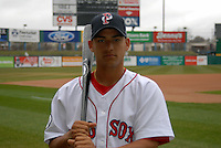Jose Iglesias, shortstop for the Pawtucket Red Sox, poses for a photo during the teams media day on April 5, 2011 at McCoy Stadium in Pawtucket, Rhode Island.  Photo By Ken Babbitt/Four Seam Images
