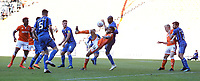 Blackpool's Curtis Tilt is tightly marked by Rochdale's Calvin Andrew preventing a goal scoring chance<br /> <br /> Photographer Stephen White/CameraSport<br /> <br /> The EFL Sky Bet League One - Blackpool v Rochdale - Saturday 6th October 2018 - Bloomfield Road - Blackpool<br /> <br /> World Copyright © 2018 CameraSport. All rights reserved. 43 Linden Ave. Countesthorpe. Leicester. England. LE8 5PG - Tel: +44 (0) 116 277 4147 - admin@camerasport.com - www.camerasport.com