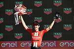 Chad Haga (USA) Team Sunweb wins Stage 21 the final stage of the 2019 Giro d'Italia, an individual time trial running 17km from Verona to Verona, Italy. 2nd June 2019<br /> Picture: Fabio Ferrari/LaPresse | Cyclefile<br /> <br /> All photos usage must carry mandatory copyright credit (© Cyclefile | Fabio Ferrari/LaPresse)