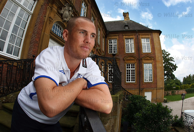 Kenny Miller at the team hotel Klosterpforte in Marienfeld, Germany