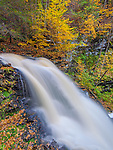 Ricketts Glen State Park, PA: Erie Falls in autumn on Kitchen Creek