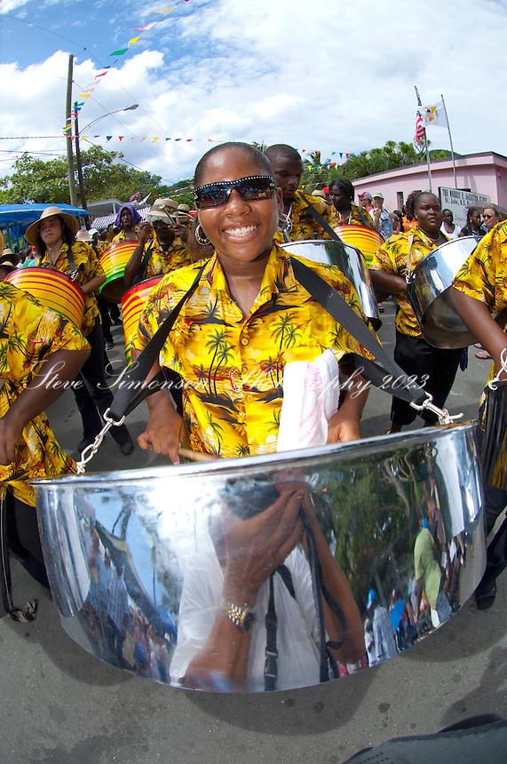 Carnival Parade 07/04/2007.<br /> Cruz Bay<br /> St. John<br /> U.S. Virgin Islands