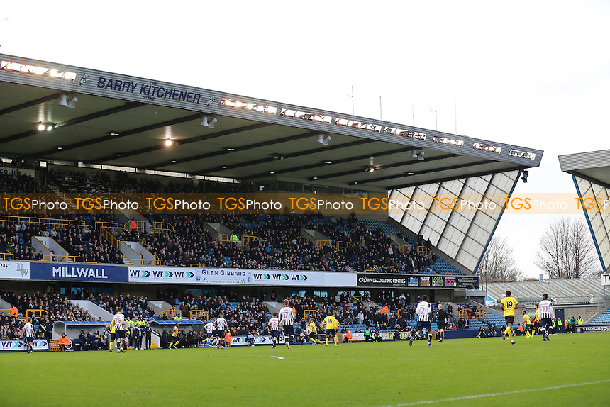 General view of the ground during Millwall vs Watford, Emirates FA Cup Football at The Den on 29th January 2017