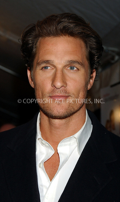 "WWW.ACEPIXS.COM . . . . . ....NEW YORK, MARCH 8, 2006....Matthew McConaughey at the ""Failure to Launch"" New York Premiere.....Please byline: KRISTIN CALLAHAN - ACEPIXS.COM.. . . . . . ..Ace Pictures, Inc:  ..Philip Vaughan (212) 243-8787 or (646) 679 0430..e-mail: info@acepixs.com..web: http://www.acepixs.com"