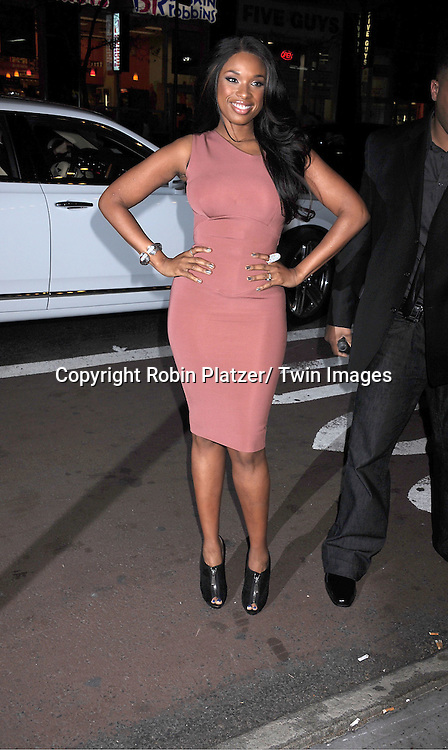 Jennifer  Hudson in Victoria Beckham beige dress attending The 2nd Annual Mary J Blige Honors Concert to Benefit FFAWN's Scholarship Fund hosted by Mary J Blige and Robbie Myers on May 1, 2011 at Hammerstein Ballroom in New York City.