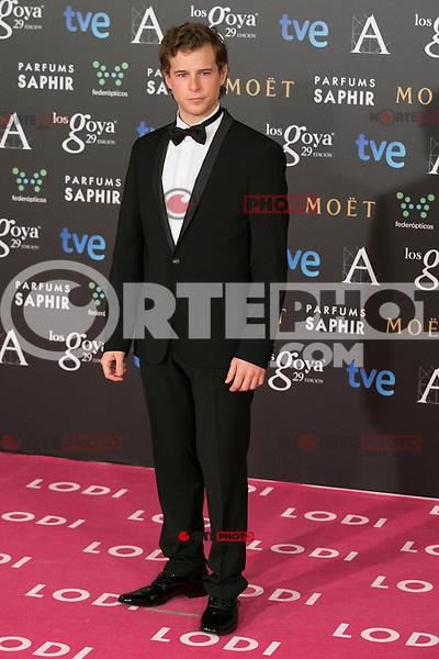 Alvaro Cervantes attend the 2015 Goya Awards at Auditorium Hotel, Madrid,  Spain. February 07, 2015.(ALTERPHOTOS/)Carlos Dafonte) /NORTEphoto.com