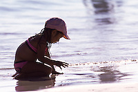 A girl at Kailua Beach