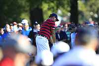 Phil Mickelson (Team USA) on the 16th tee during Saturday afternoon Fourball at the Ryder Cup, Hazeltine National Golf Club, Chaska, Minnesota, USA.  01/10/2016<br /> Picture: Golffile | Fran Caffrey<br /> <br /> <br /> All photo usage must carry mandatory copyright credit (&copy; Golffile | Fran Caffrey)