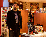 July 26, 2017. Raleigh, North Carolina.<br /> <br /> Author Alan Gratz spoke about and signed his new book &quot;Refugee&quot; at Quail Ridge Books. The young adult fiction novel contrasts the stories of three refugees from different time periods, a Jewish boy in 1930's Germany , a Cuban girl in 1994 and a Syrian boy in 2015.