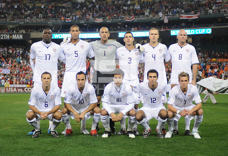USMNT Staring Eleven.  The USMNT tied Costa Rica 2-2 on the final game of the 2010 FIFA World Cup Qualifying round at RFK Stadium, Wednesday October 14, 2009.
