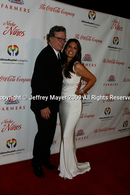 """BEVERLY HILLS, CA. - May 09: Christopher McDonald and Alex Meneses arrive at the 3rd Annual """"Noche de Ninos"""" Gala at the Beverly Hilton Hotel on May 9, 2009 in Beverly Hills, California."""