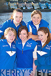 GIRL POWER: Killorglin RC crew Danielle ORiordan, Fiona Swords, Maria OShea, Nicole Mangan and Shauna OConnor at the Kerry Head of the River Rowing competition in Killorglin last Saturday..