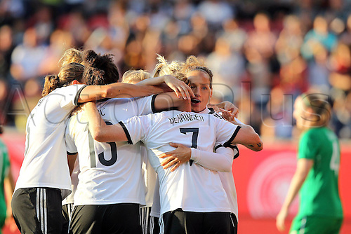 17.09.2014. Heidenheim, Germany. Womens World Cup football qualifier. Germany versus Republic of Ireland. Melanie Behringer (Ger) celebrates the goal for 1:0
