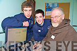 St Brendans College transition year students Jack O'Neill and Kevin Keane pictured as they instructed Don Rohan on the joys of the internet during the Log on Learn class in the college on Tuesday...