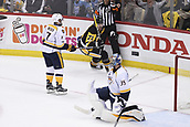 8th June 2017, Pittsburgh, PA, USA; Pittsburgh Penguins center Evgeni Malkin (71) scores past Nashville Predators goalie Pekka Rinne (35) during the first period in Game Five of the 2017 NHL Stanley Cup Final between the Nashville Predators and the Pittsburgh Penguins on June 8, 2017, at PPG Paints Arena