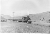 Coal train at crossing.<br /> D&amp;RGW  Baldwin Branch, CO