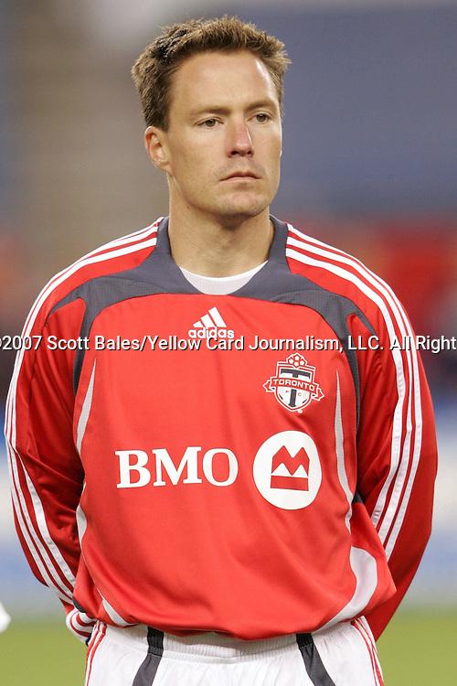 14 April 2007: Toronto's Richard Mulrooney. The New England Revolution defeated Toronto FC 4-0 at Gillette Stadium in Foxboro, Massachusetts in an MLS Regular Season game.