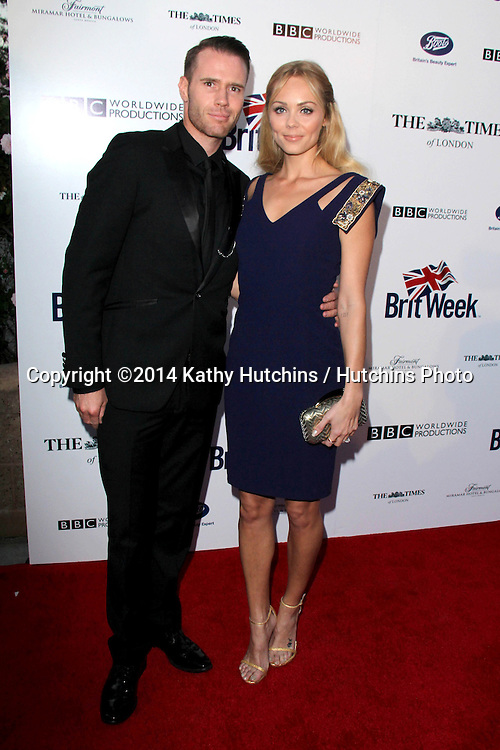 BODHILOS ANGELES - APR 22:  Laura Vandervoort, Oliver Trevena at the 8th Annual BritWeek Launch Party at The British Residence on April 22, 2014 in Los Angeles, CA