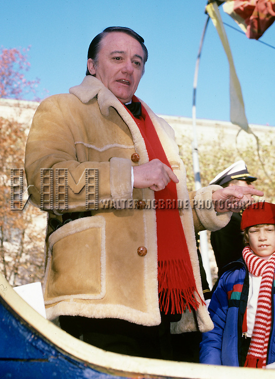 Robert Vaughn in New York City at the Macy's Thanksgiving Day Parade in 1990.