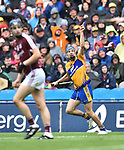 Shane O Donnell of Clare celebrates a late score during their All-Ireland semi-final against Galway at Croke Park. Photograph by John Kelly.