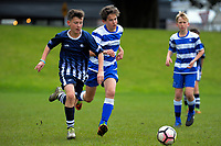 Action from the AIMS games boy's football at Blake Park in Mount Maunganui, New Zealand on Thursday, 14 September 2017. Photo: Dave Lintott / lintottphoto.co.nz