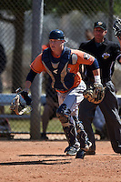 Houston Astros Trent Woodward (1) during a minor league spring training game against the Atlanta Braves on March 29, 2015 at the Osceola County Stadium Complex in Kissimmee, Florida.  (Mike Janes/Four Seam Images)