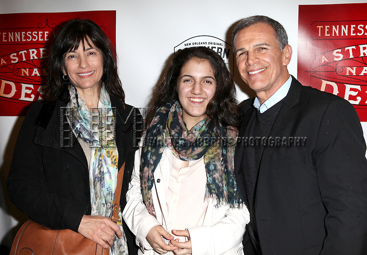 Tony Plana & Family.attending the Broadway Opening Night Performance of 'A Streetcar Named Desire' at the Broadhurst Theatre on 4/22/2012 in New York City.