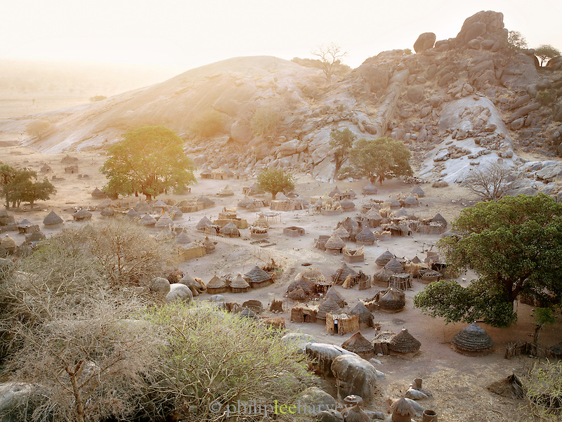 The Nubian tribe village of Nyaro, set in the Jebel mountains, in the Kordofan region of Sudan