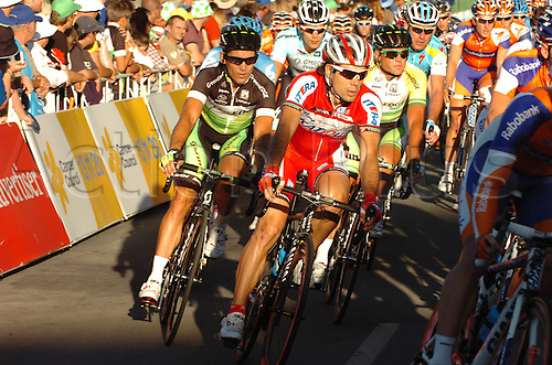 15.01.2012. Adelaide, Australia.  Down Under Classic, Katusha 2012, Freire Oscar Gomez, Adelaide . German sprint ace Andre Greipel dominated the Down Under Classic to win strongly at the finish.