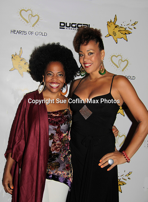 Maya Azucena and Another World's Rhonda Ross both sang at Hearts of Gold - 45 A Different Kind of Fund Raiser on July 10, 2014 at Manhattan Penthouse, New York City, New Yor (Photo by Sue Coflin/Max Photos)