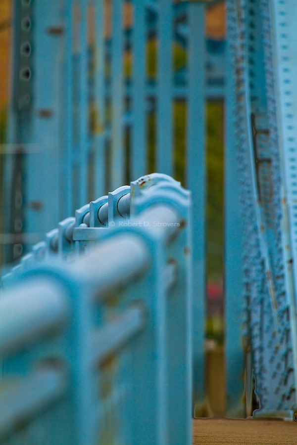 Pittsburgh bridges - Blue rail, Jerome St bridge, McKeesport